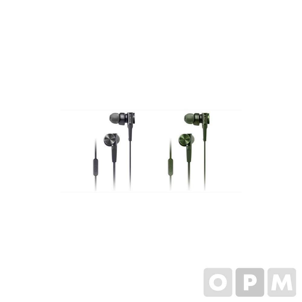 소니 이어폰 MDR-XB75AP  블랙 / 코드길이:1.2m