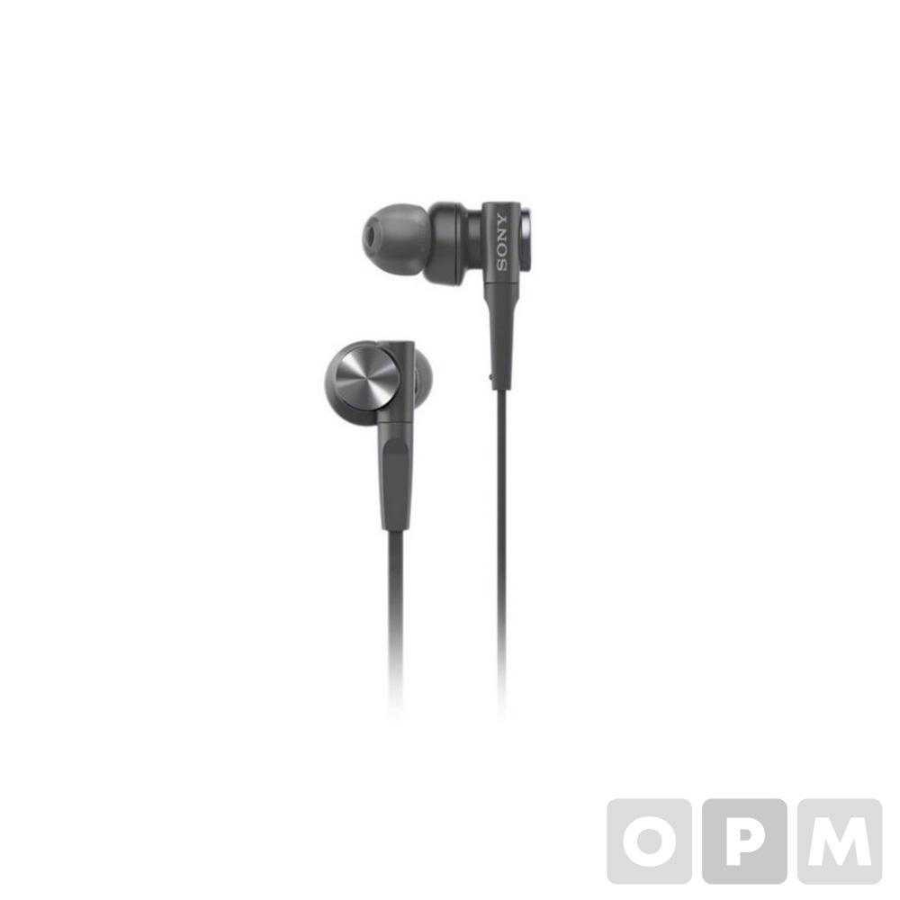소니 이어폰 MDR-XB55AP  블랙 / 코드길이:1.2m