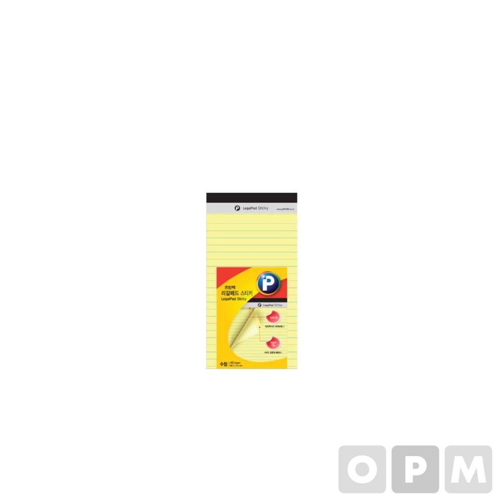 프린텍 리갈패드 LP89Y 노랑 / 89*173mm, 40매