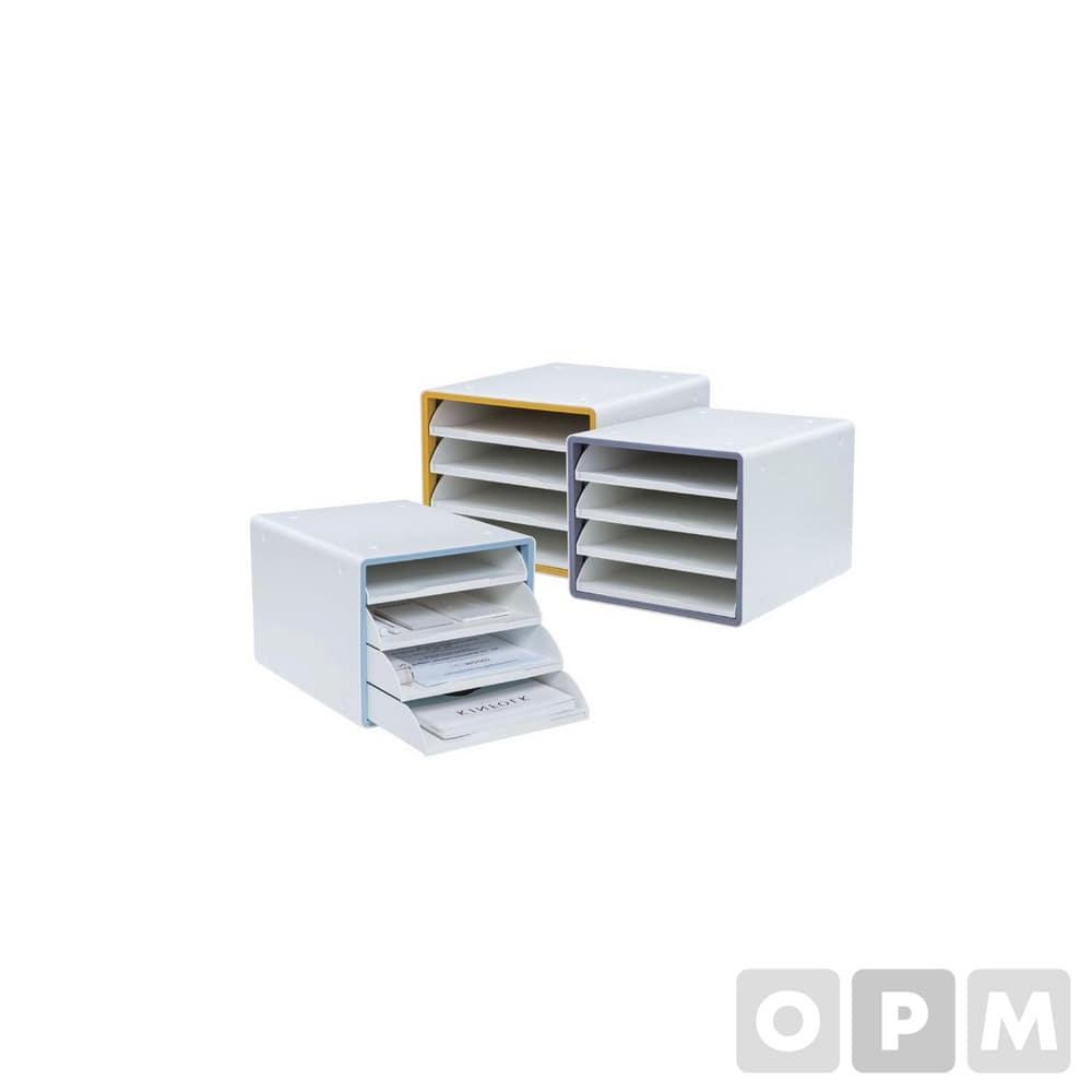 디럭스 오픈형 서류함 4단그레이  290x340x240mm