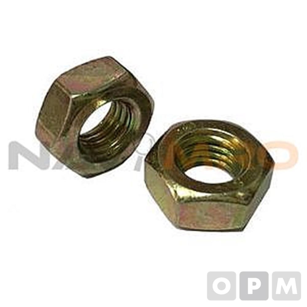 철 미리 육각너트 (M6-M16) /1PK(50EA)/규격(mm) M 10/PITCH 1.5