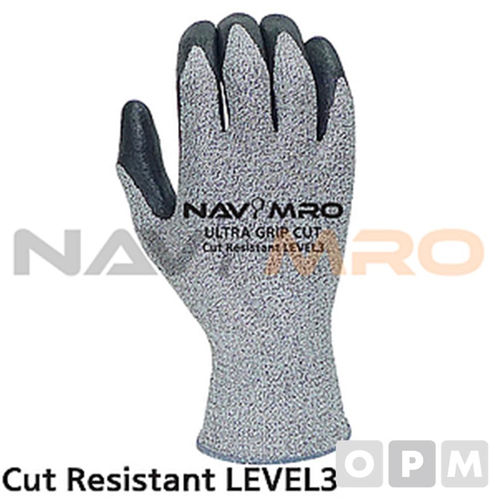 절단방지 편직 장갑 1켤레 M/ 회색 전장 230~240mm/CUT3