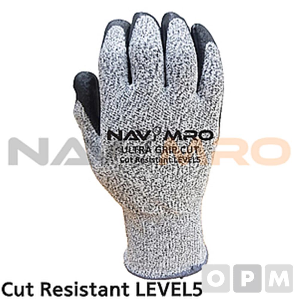 절단방지 편직 장갑 1켤레 M/ 회색 전장 225mm/CUT5