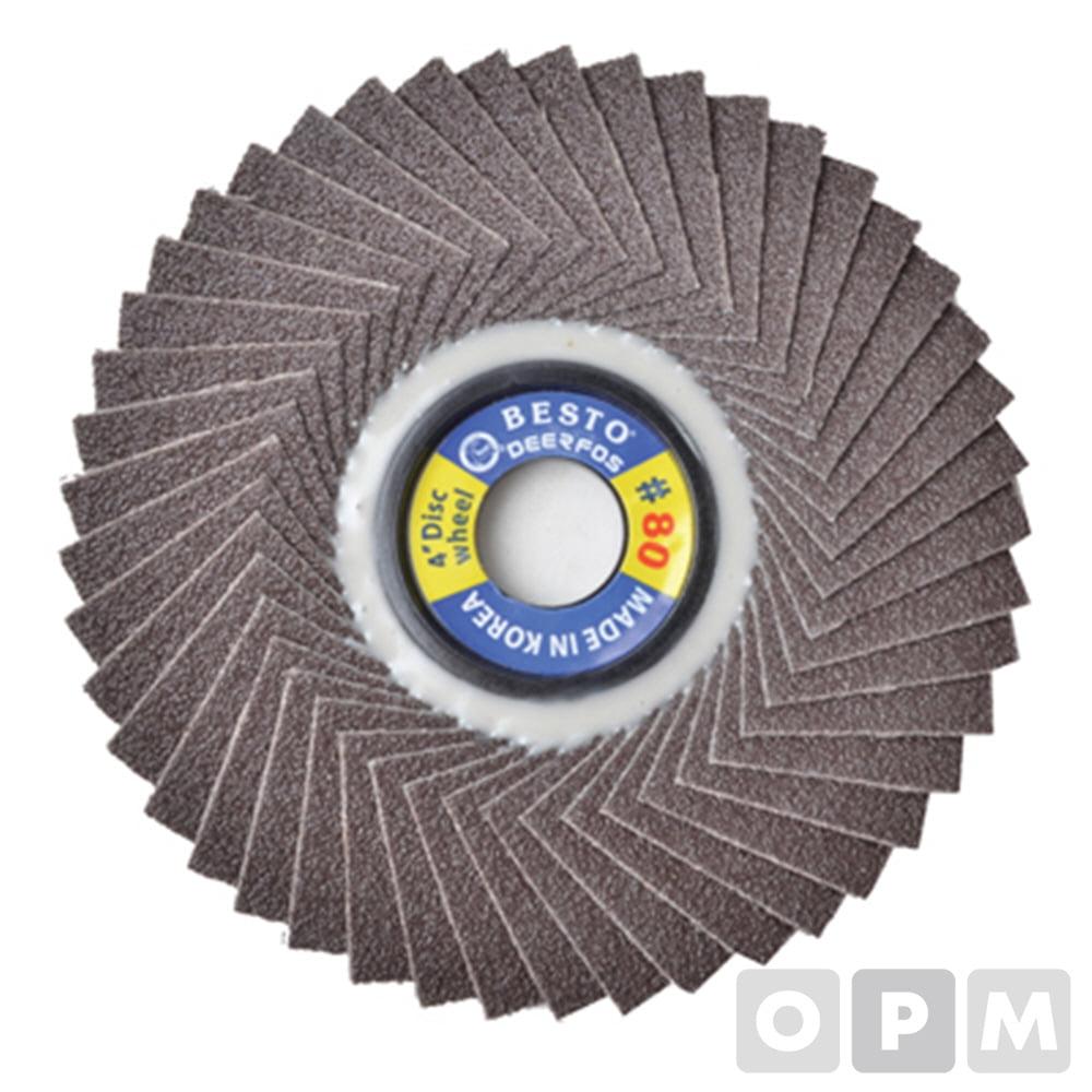 디스크 휠 페이퍼 BESTO-DEERFOS/BE-D80/100개 최소주문수량