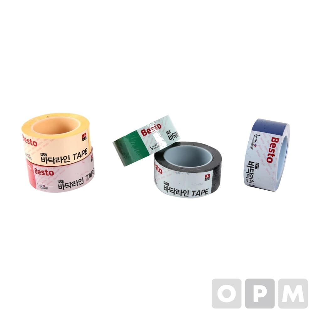 바닥라인테이프(PVC) BESTO-테이프/흑/50MM*33M/40개 최소주문수량