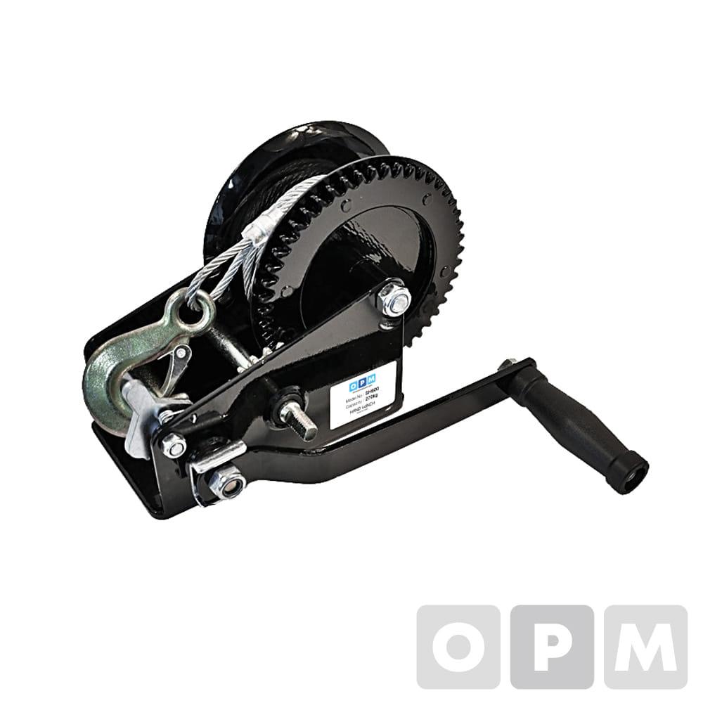 OPM 핸드윈치 와이어 후크포함 (수동) SH-2000(900) 5 x 10