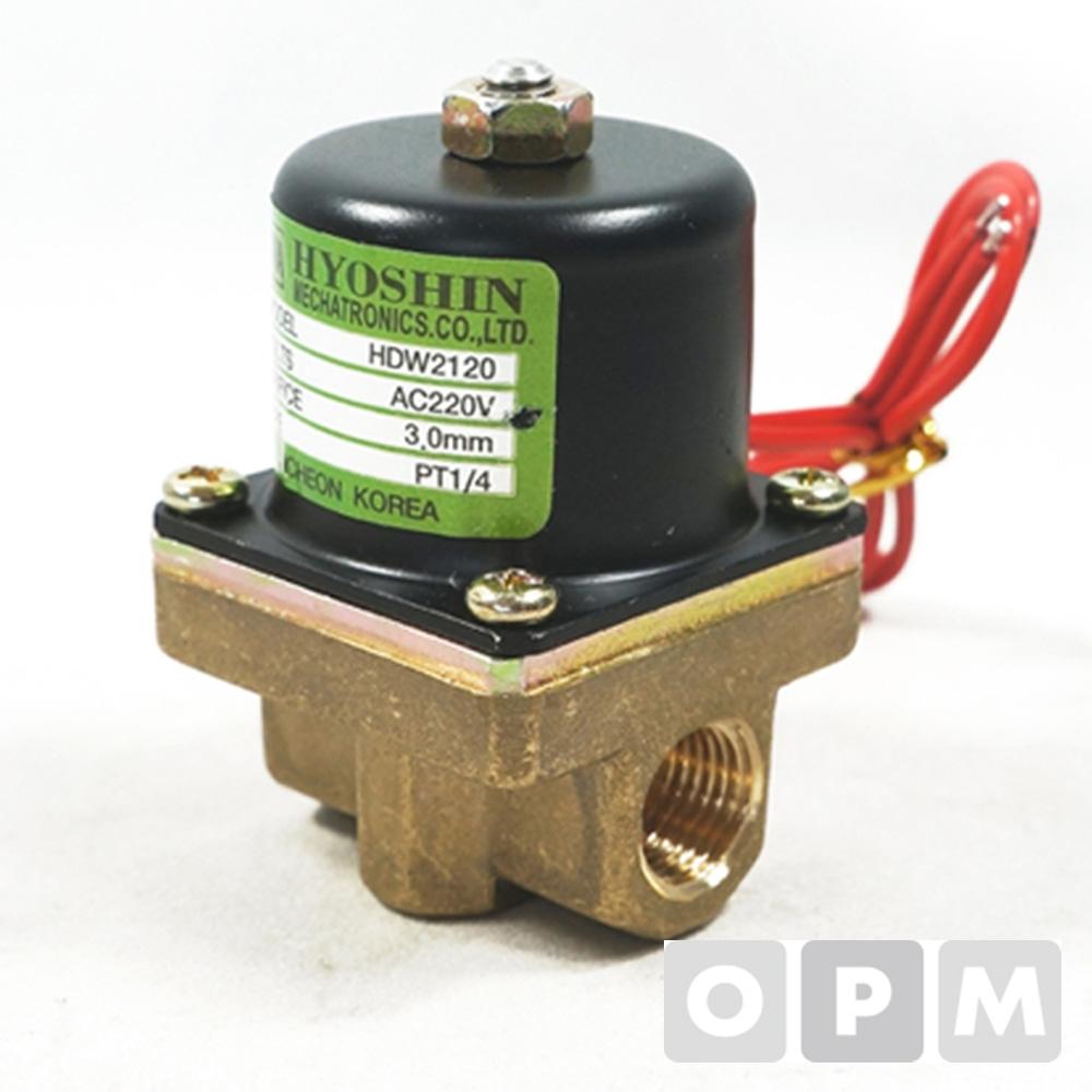 효신 솔레노이드밸브미니 8A / AC 220V