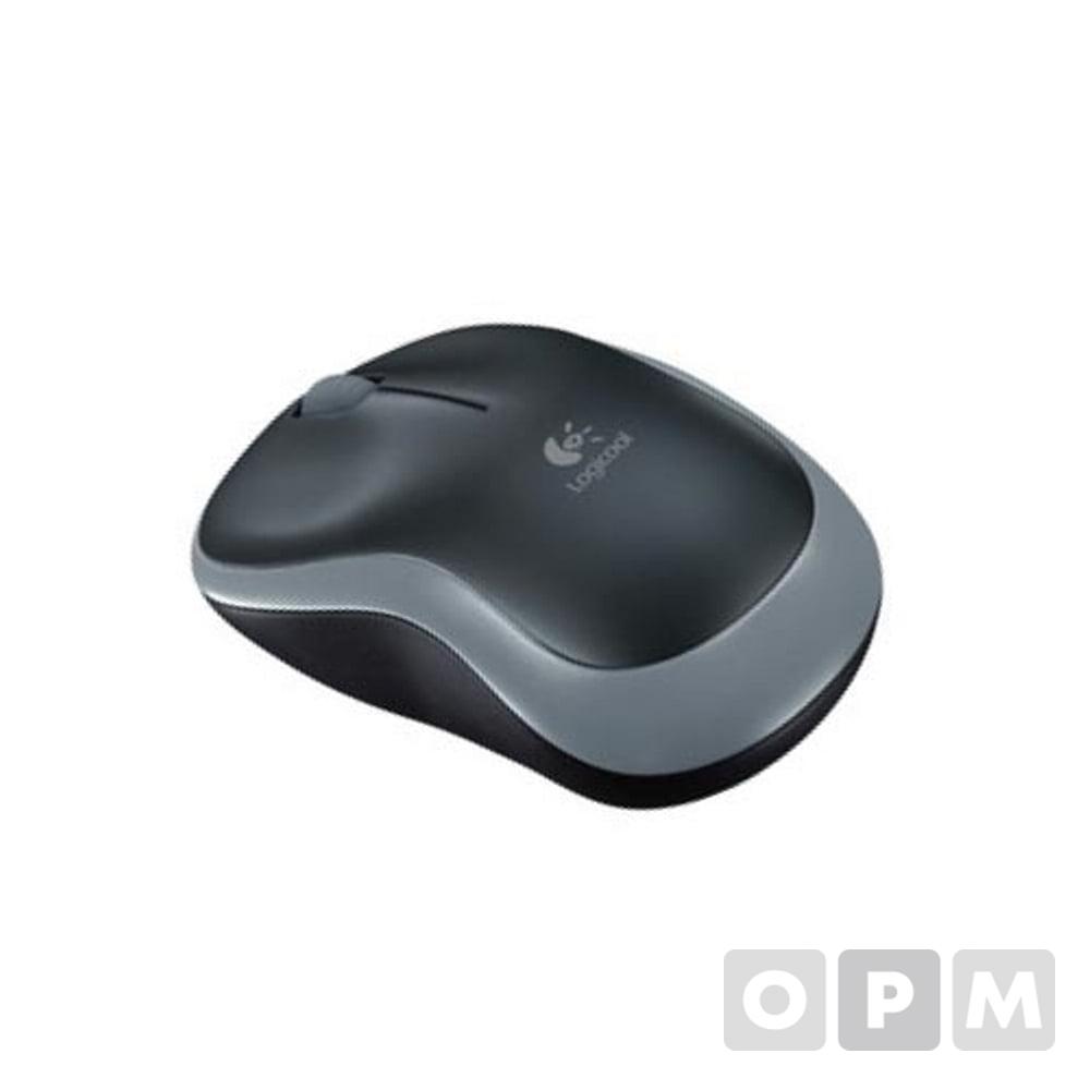 로지텍 무선광마우스M186 / 55x99x37mm/무선/USB