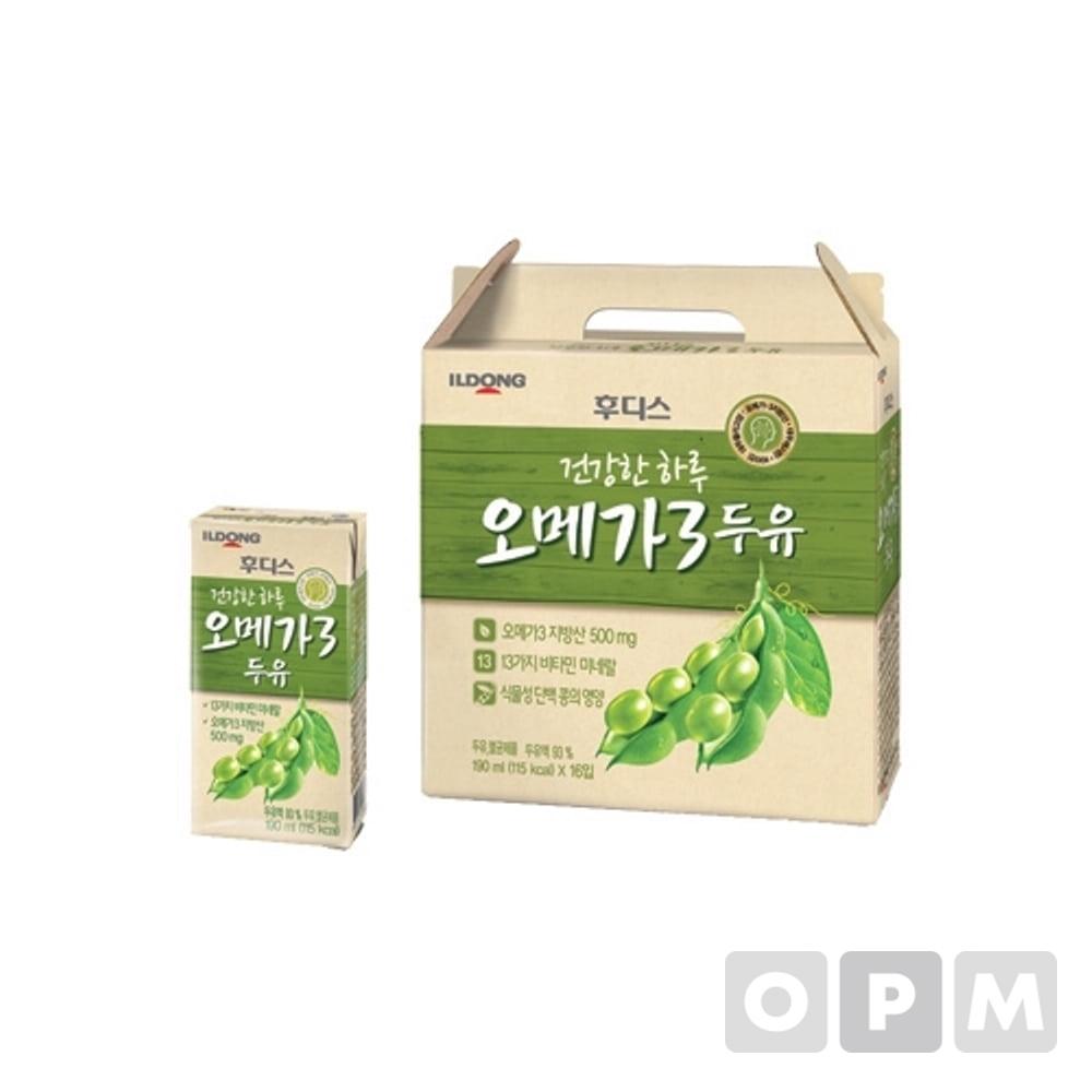 후디스 오메가3두유 190mlX16팩