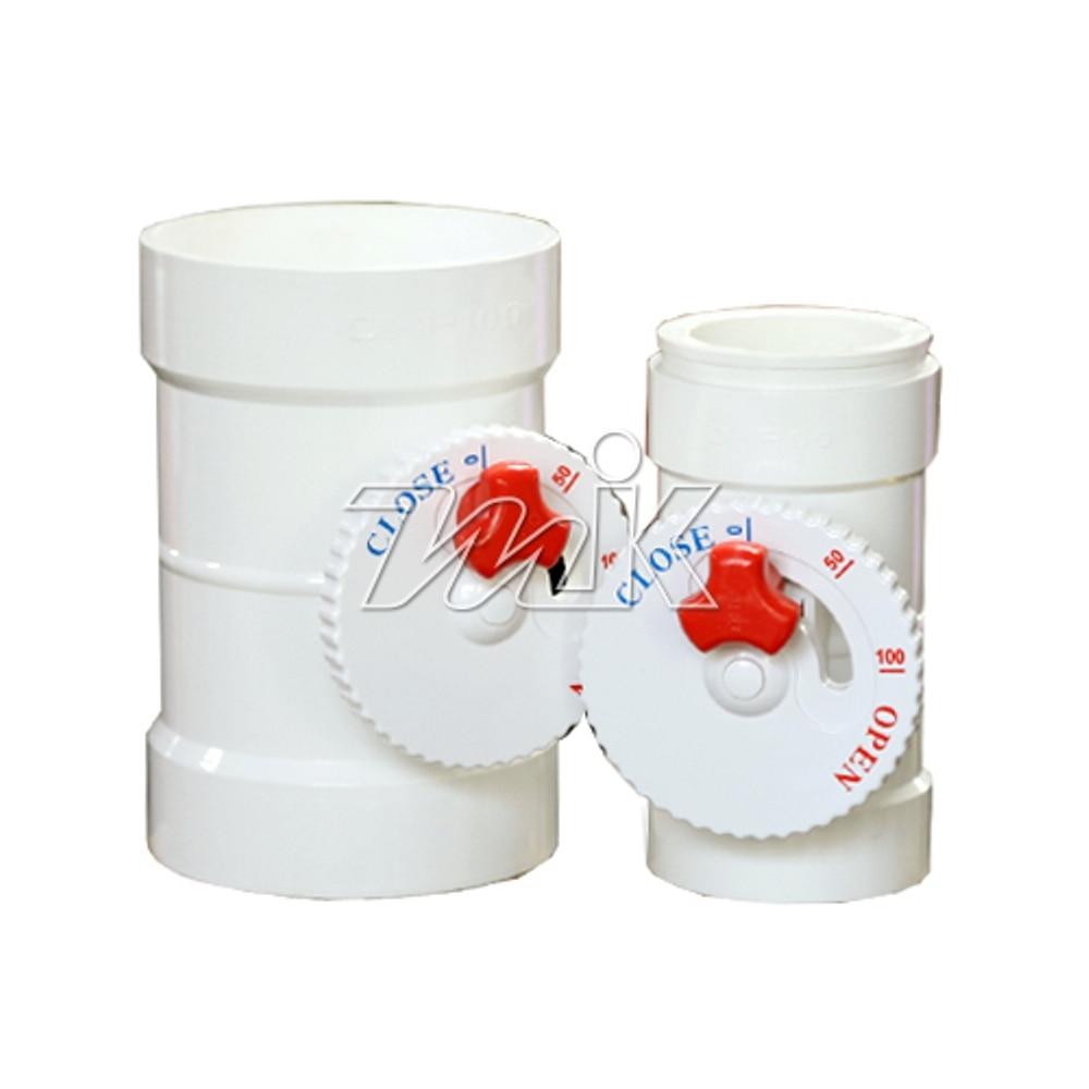 [반품불가] PVC댐퍼(백색)75A(소켓식)