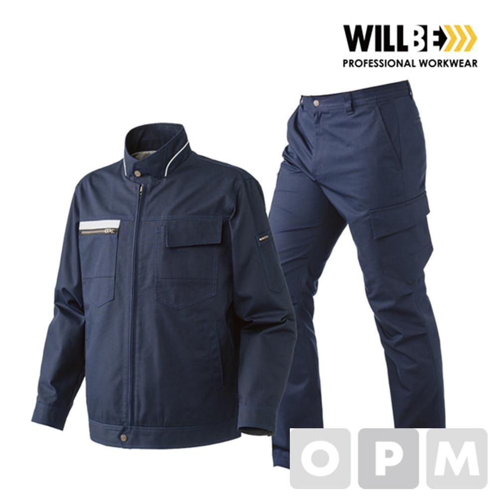 윌비 네이비 집업 사철복 작업복 하의PR401 - 40