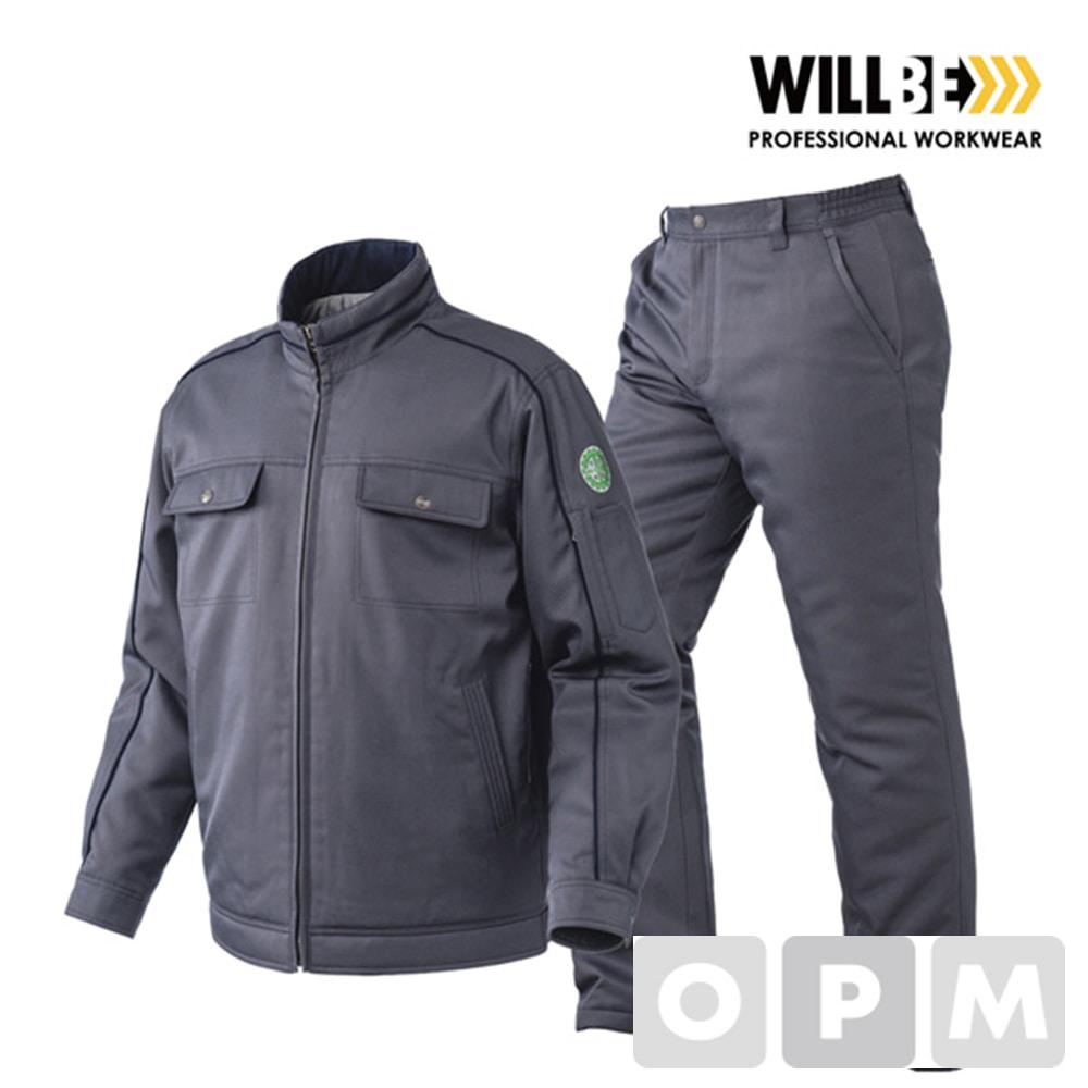 윌비 그레이 패딩점퍼/패딩바지 작업복 하의PR903 - 30