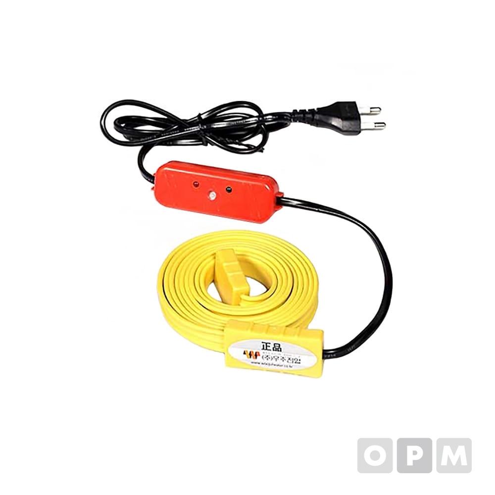 동파방지열선 센서형 노란 실리콘열선 50M